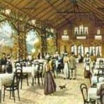 Die Trinkhalle am Kleinen Rugen in ihren Anfangszeiten.
