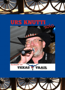 Urs Knutti tritt am Kulturanlass 2015 in der Trinkhalle auf.